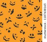 halloween jack o' lantern... | Shutterstock .eps vector #1187638165