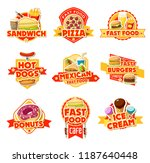 fast food restaurant and cafe... | Shutterstock .eps vector #1187640448