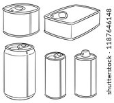 vector set of can | Shutterstock .eps vector #1187646148