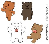 vector set of bear | Shutterstock .eps vector #1187648278