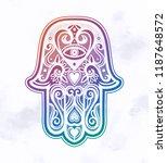 hamsa or hand of fatima.   Shutterstock .eps vector #1187648572