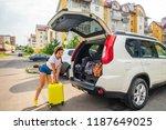 car travel concept. opened... | Shutterstock . vector #1187649025