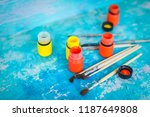 composition with yellow and... | Shutterstock . vector #1187649808