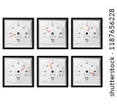 analog frequency meter.... | Shutterstock .eps vector #1187656228