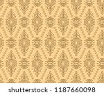 vector seamless pattern in... | Shutterstock .eps vector #1187660098