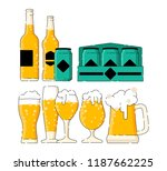 many type of beer in the... | Shutterstock .eps vector #1187662225