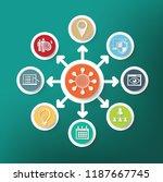 search engine optimisation... | Shutterstock .eps vector #1187667745