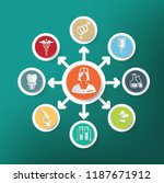 medical and health care vector... | Shutterstock .eps vector #1187671912