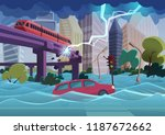 flood and storm natural... | Shutterstock .eps vector #1187672662