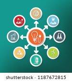 industrial vector info graphic... | Shutterstock .eps vector #1187672815