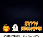 halloween greeting illustration. | Shutterstock . vector #1187673892