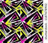grunge urban seamless geometric ... | Shutterstock .eps vector #1187678902