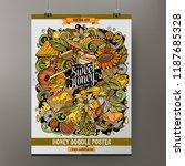 cartoon hand drawn doodles... | Shutterstock .eps vector #1187685328
