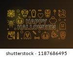 happy halloween vector colored...