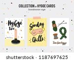 super cute vector set of hygge... | Shutterstock .eps vector #1187697625