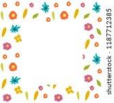 flowers vector frame  summer... | Shutterstock .eps vector #1187712385