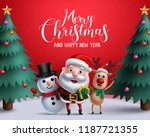 christmas vector characters... | Shutterstock .eps vector #1187721355