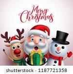 christmas characters like santa ... | Shutterstock .eps vector #1187721358