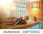 russian sauna broom   sauna... | Shutterstock . vector #1187722012