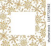 christmas watercolor square... | Shutterstock . vector #1187722582