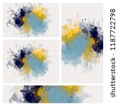 set of watercolor stain banner. ... | Shutterstock . vector #1187722798