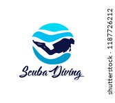 diving logo template | Shutterstock .eps vector #1187726212