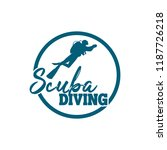 diving logo template | Shutterstock .eps vector #1187726218