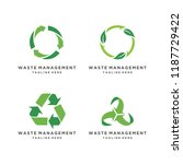 recycled eco vector icon set....   Shutterstock .eps vector #1187729422