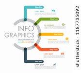 infographic design template... | Shutterstock .eps vector #1187735092