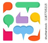 colorful comic speech bubble set   Shutterstock .eps vector #1187735215