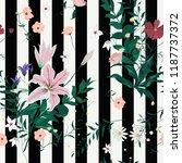 seamless floral trendy pattern... | Shutterstock .eps vector #1187737372