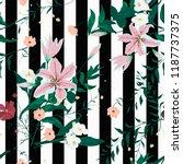 seamless floral trendy pattern... | Shutterstock .eps vector #1187737375