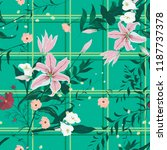 seamless floral pattern with... | Shutterstock .eps vector #1187737378