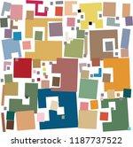disheveled loose rectangles... | Shutterstock .eps vector #1187737522