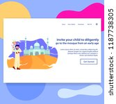 landing page illustration... | Shutterstock .eps vector #1187738305