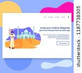 landing page illustration... | Shutterstock .eps vector #1187738305