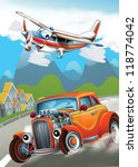 the car and the flying machine  ... | Shutterstock . vector #118774042