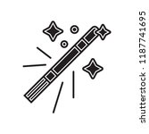 magic wand icon vector isolated ... | Shutterstock .eps vector #1187741695