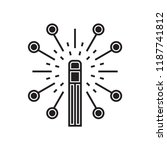 magic wand icon vector isolated ... | Shutterstock .eps vector #1187741812