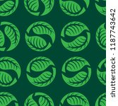 vector seamless floral pattern... | Shutterstock .eps vector #1187743642