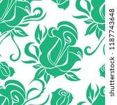 vector seamless floral pattern... | Shutterstock .eps vector #1187743648