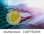 bitcoin and other digital... | Shutterstock . vector #1187752345