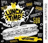 lunch time cafe restaurant menu....   Shutterstock .eps vector #1187757202