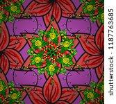 millefleurs. floral sweet... | Shutterstock .eps vector #1187763685