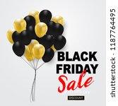 black friday sale banner  black ... | Shutterstock .eps vector #1187764495