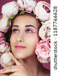 close up portrait of beautiful... | Shutterstock . vector #1187766628