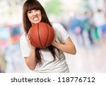 portrait of a young female with ... | Shutterstock . vector #118776712