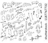 set of vector doodle drawing... | Shutterstock .eps vector #1187767732