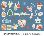cool christmas design elements... | Shutterstock .eps vector #1187768608