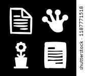 4 brilliant icons with frog paw ... | Shutterstock .eps vector #1187771518